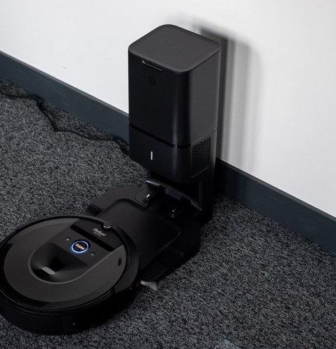 Roomba s9+ Vacuum cleaner: A voice activated vacuum cleaner that vacuums and empties itself. An example of robotics that can perform physical tasks.