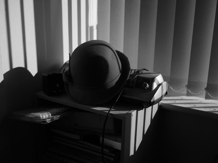 Hat and blind