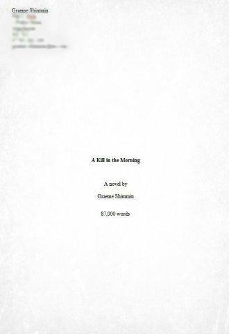 AKITM manuscript format: Front Cover