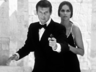 Barbara Bach and Roger Moore in The Spy Who Loved Me