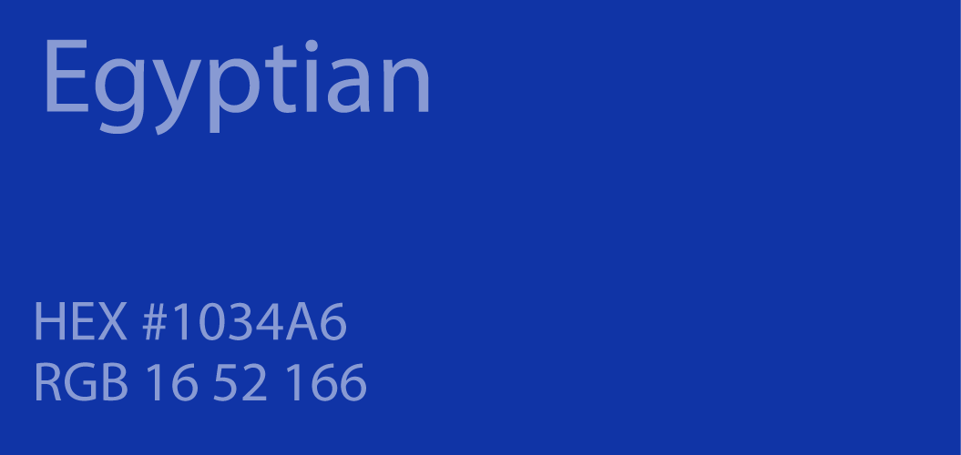 24 Shades Of Blue Color Palette