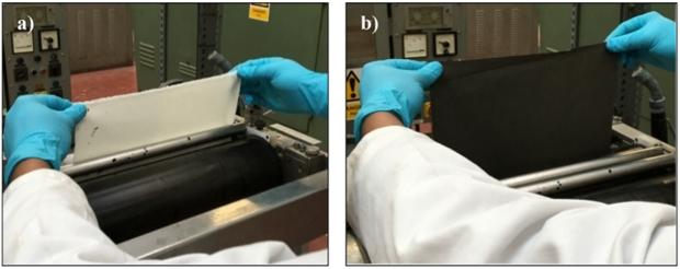 Impregnación de tejido con una solución coloidal de partículas de grafeno. /Nazmul Karim et al./ACS Nano, 2017