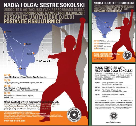 Diseño de cartel y volante para el tour de Istria de PKF
