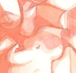 """Magnificum lacte XV"". Acuarela sobre papel, 10cm x 9.6cm, 2012"