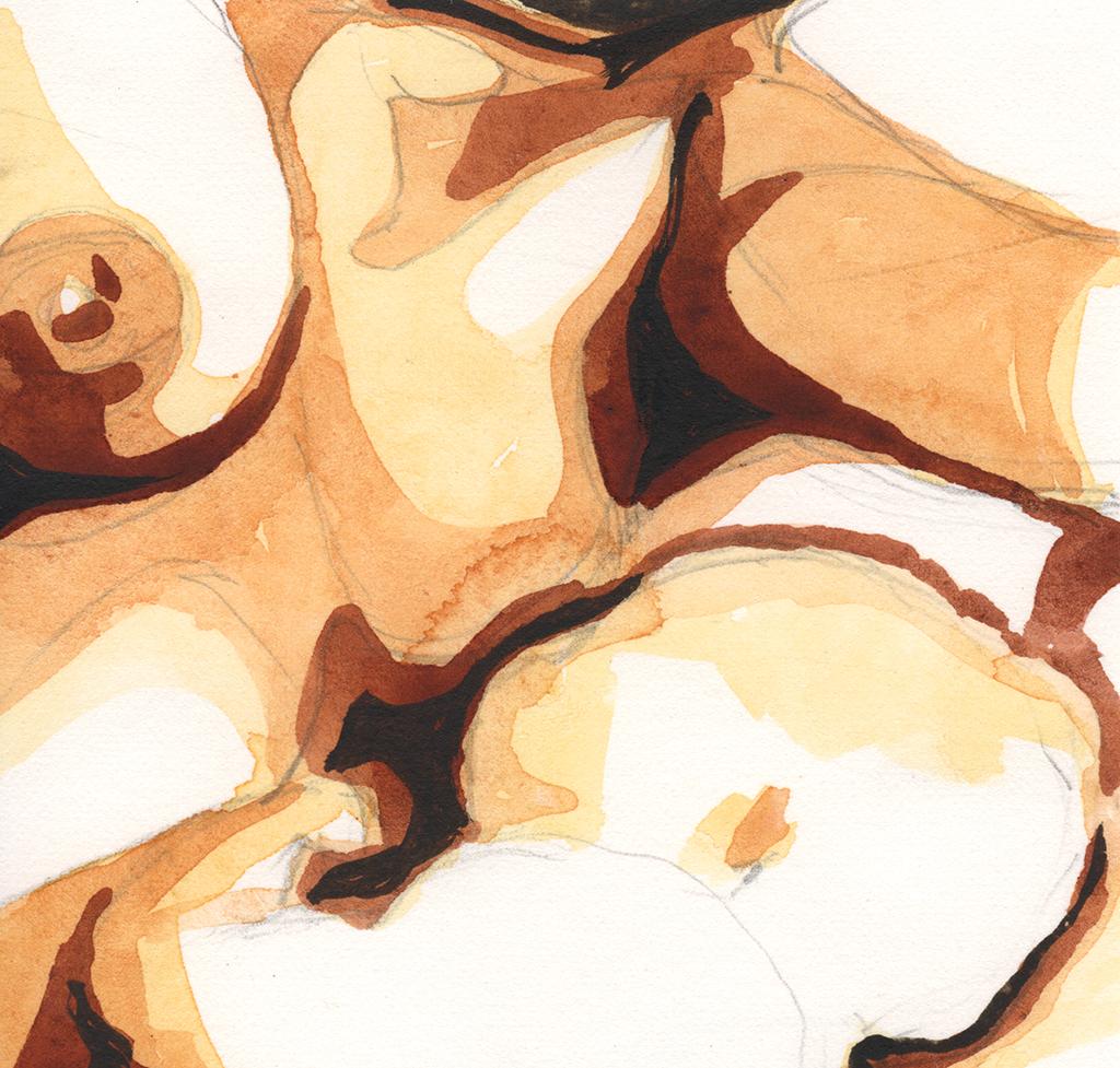 """Magnificum lacte XVIII"". Acuarela sobre papel, 10cm x 9.7cm, 2012"