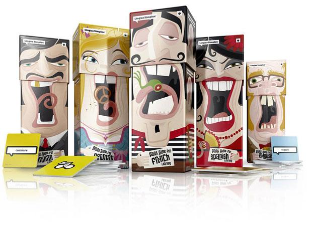 01 LinguaSimplex Lingua Simplex, divertido y esterotipado packaging de Amelung Design