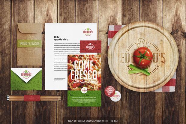 MockUp–identidad corporativa para restaurantes y alimentación
