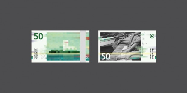 1x1.trans Noruega rompe las reglas con sus nuevos billetes de estética «punk» y «de vanguardia»