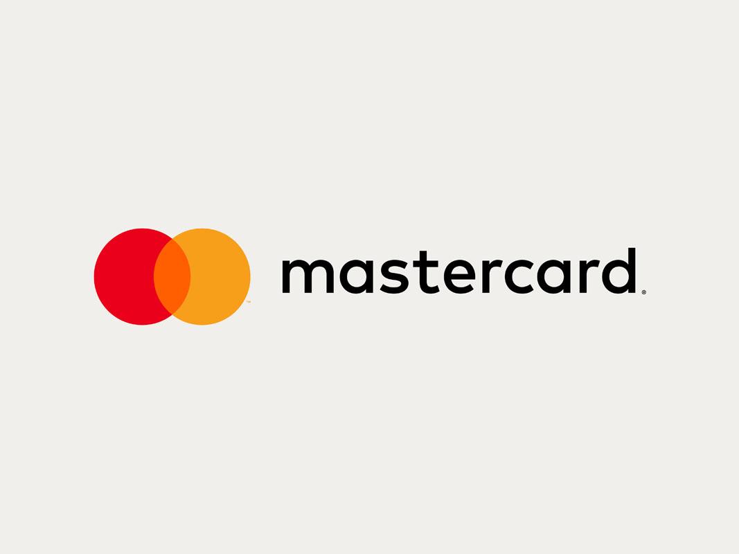 Versión a una línea de la nueva marca de Mastercard