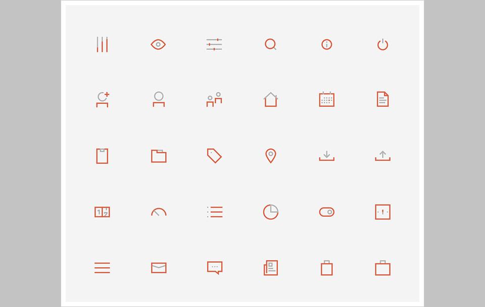 Los 60 BiColored Icons Collection por Gustavo Cramez