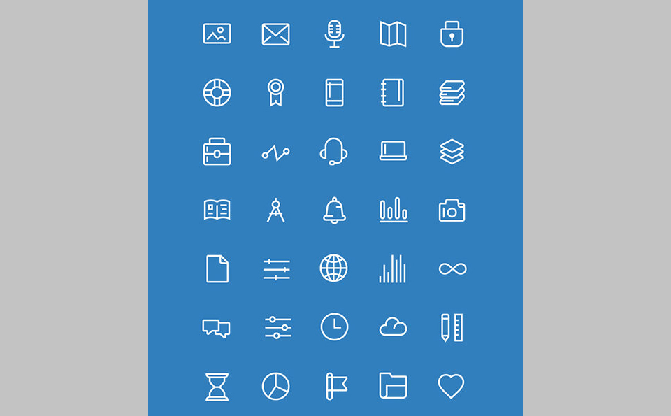 Los 100 Icons From Module por Great Simple