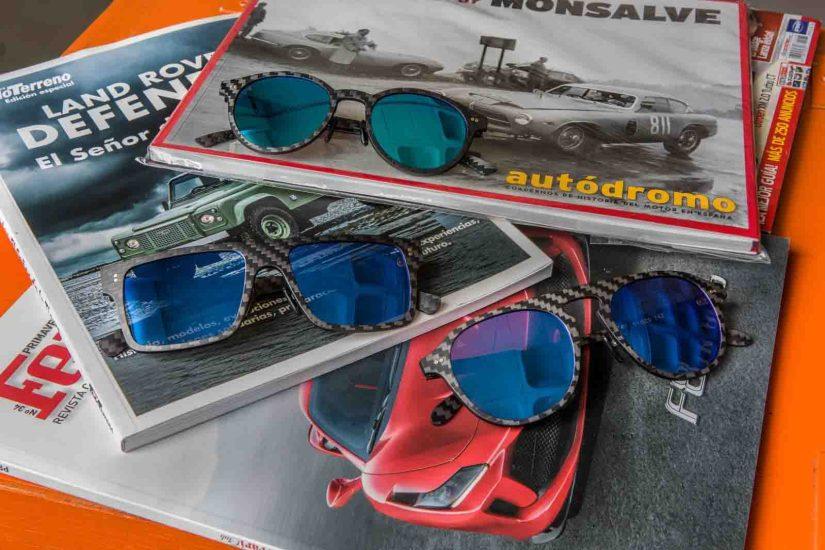 gafas de fibra de carbono