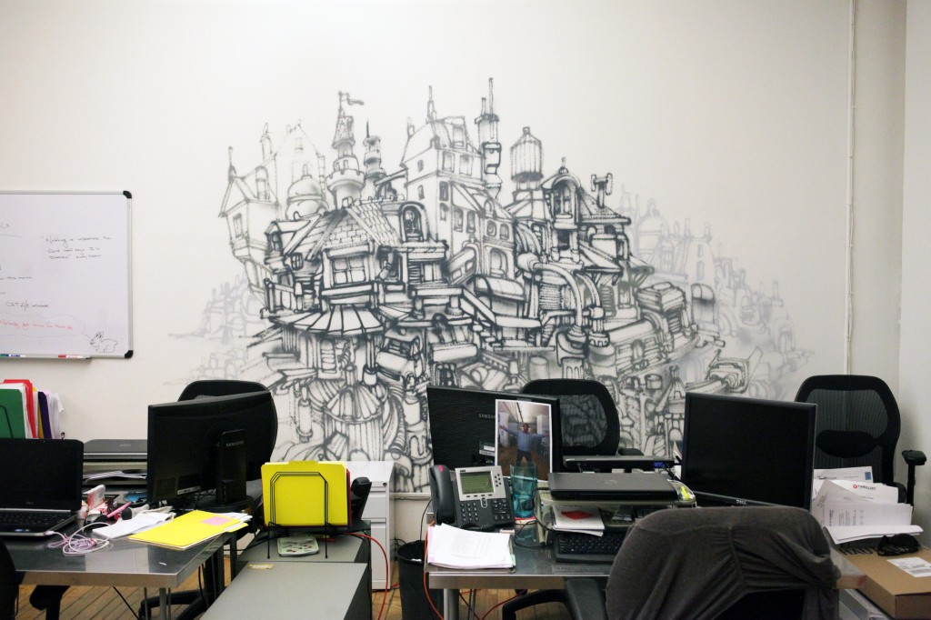Thrillist NY Office Graffiti By Gorey Graffiti USA