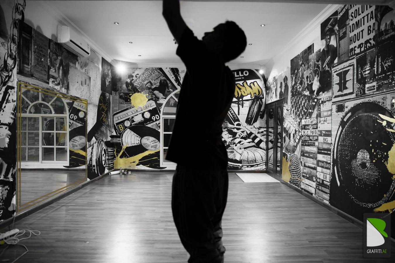 Hiphop Room Graffiti Dubai  GRAFFITI UAE