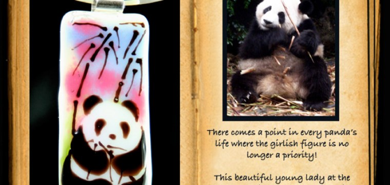 BAMBOO OVERLOAD….you asked for it..another PANDA PENDANT!!
