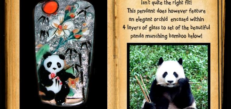 PANDA PENDANT ON EBAY and news from Chengdu!!