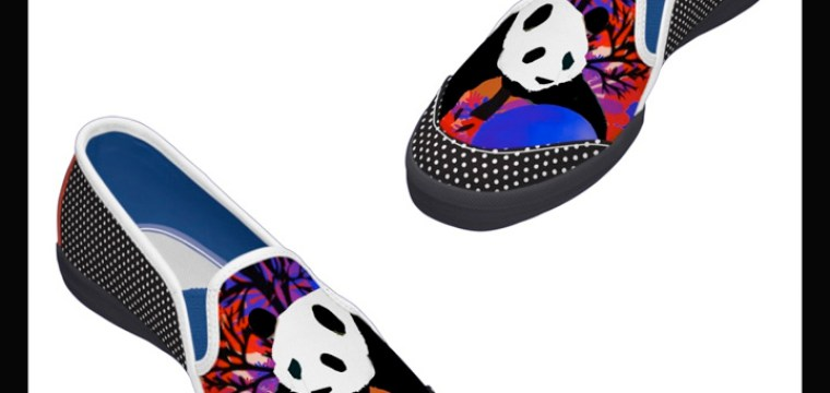 CAN YOU STAND IT….Panda shoes now available at my store!