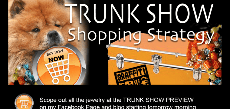 TRUNK SHOW TOMORROW..SHOPPING STRATEGY AND COUPON