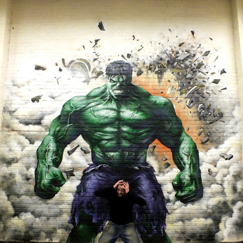 Hulk Graffiti Street Art