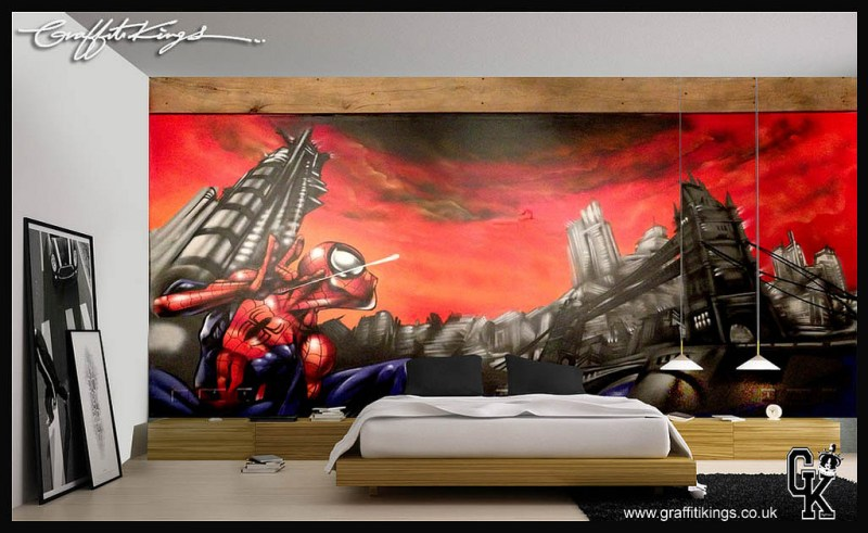 Superhero Graffiti Bedroom Spider-man