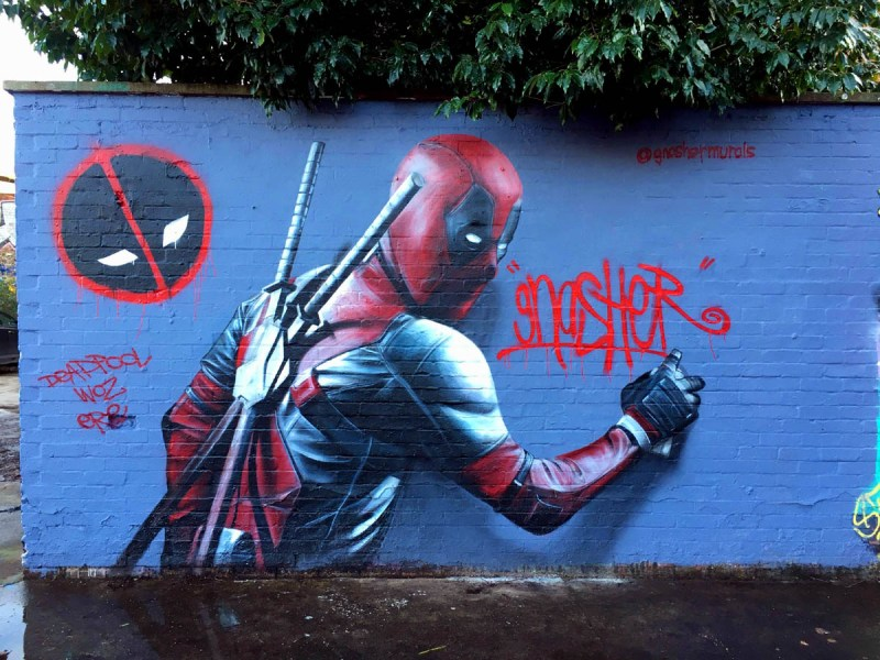 deadpool Graffiti Street Art