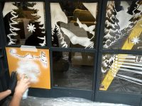Graffiti Life | Festive window display in Snow Spray!