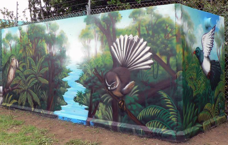 Auckland Airport Biofilter Mural  Nz Murals And Graffiti Art