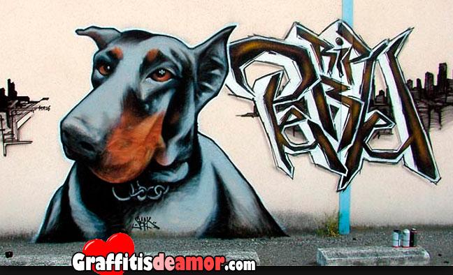 Graffitis de perros  Arte con Graffiti