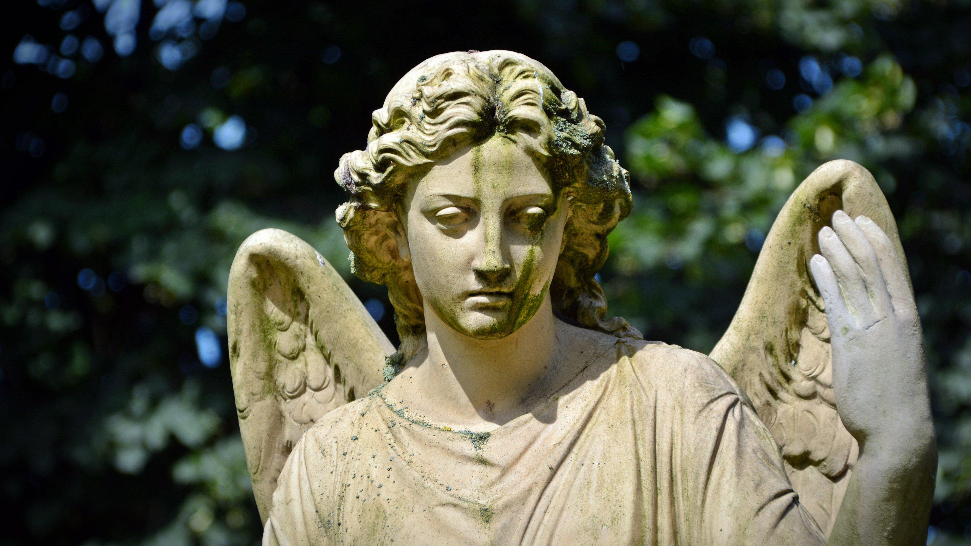 angel statue wallpaper - mobile & desktop background