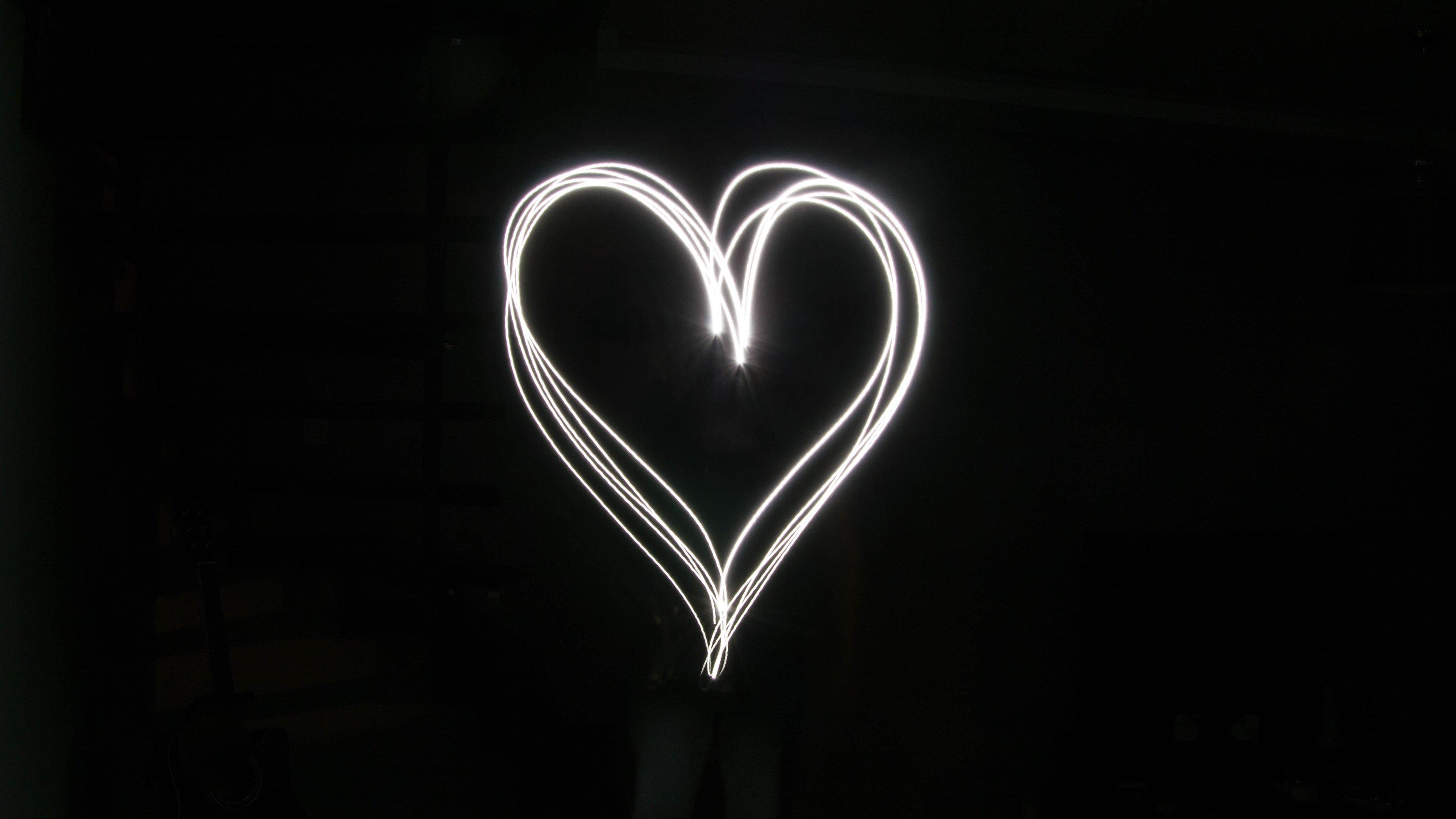 Light Heart Wallpaper  iPhone Android  Desktop Backgrounds