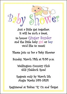 Baby Shower Invitation Wording You Can Look