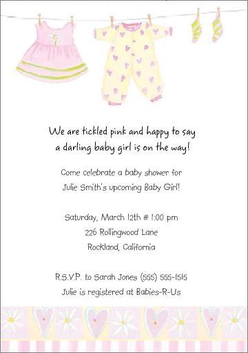 Baby Shower Invitation Wording You Can Look Neutral