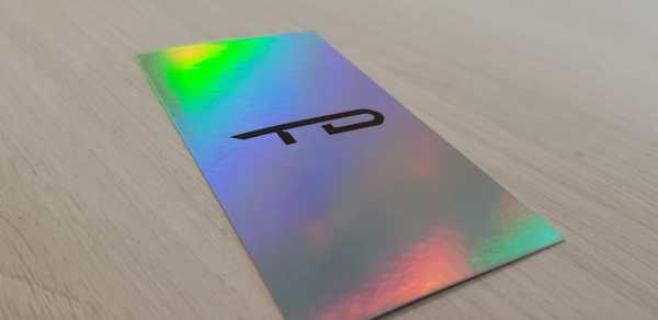 Cartão com hot stamping total