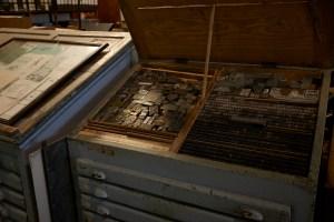 Móvel de fontes tipográficas