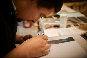 Produção Offset na Tipografia Sintrense, conta-linhas