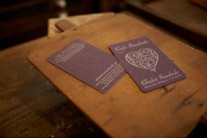 Cartão de visita, relevo, Tipografia Sintrense