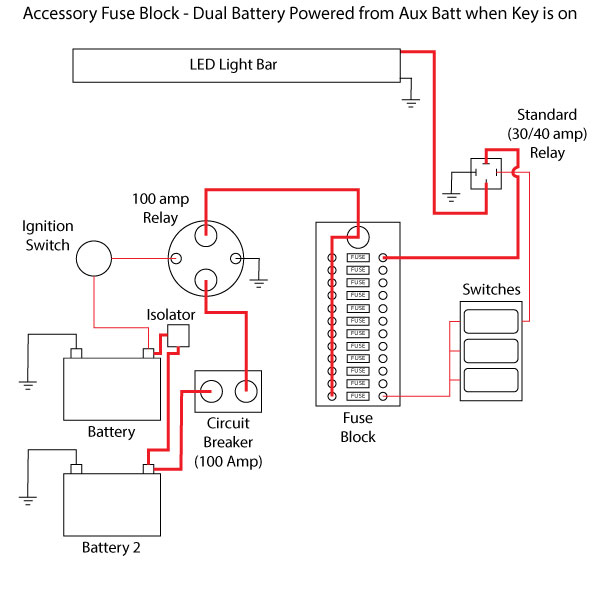 Battery Hook Up Dual Switch Circuit Diagram For, Battery