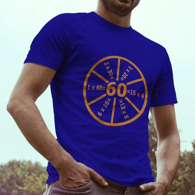 Egyedi nyomtatott pólót keres? Megtalálta! Egyedi nyomtatott Szülinapos póló, 60 = szöveggel.