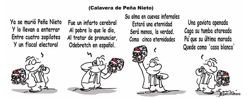 Calavera de Peña Nieto - Garcí
