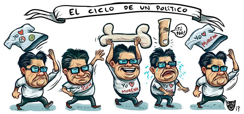 El ciclo de un político - Rictus