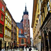 Kraków Polska ulica Floriańska Kościół Mariacki