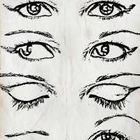 Oczy szkic
