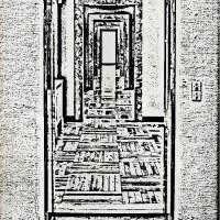 Otwarte drzwi grafika czarno biała