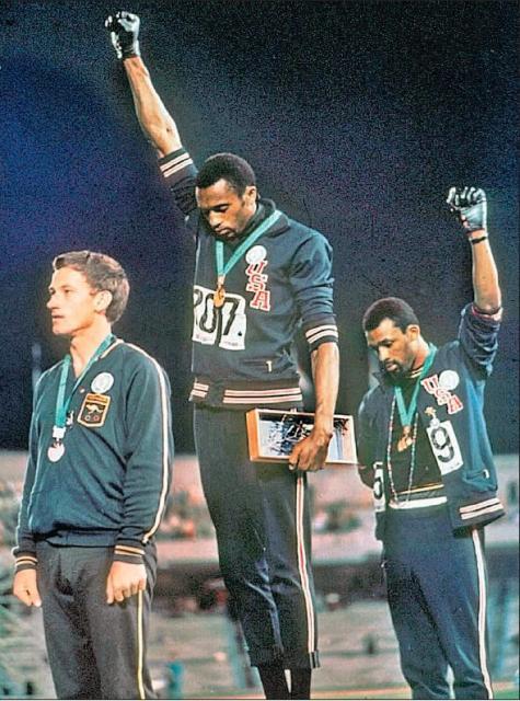 Olimpiada w Meksyku - protest przeciw segregacji rasowej w USA