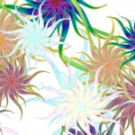 1024x768 Painted Flowers Wallpaper