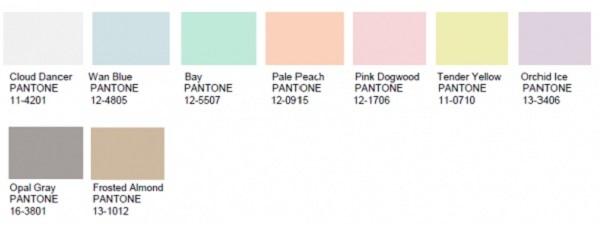 Colores pasteles nombres