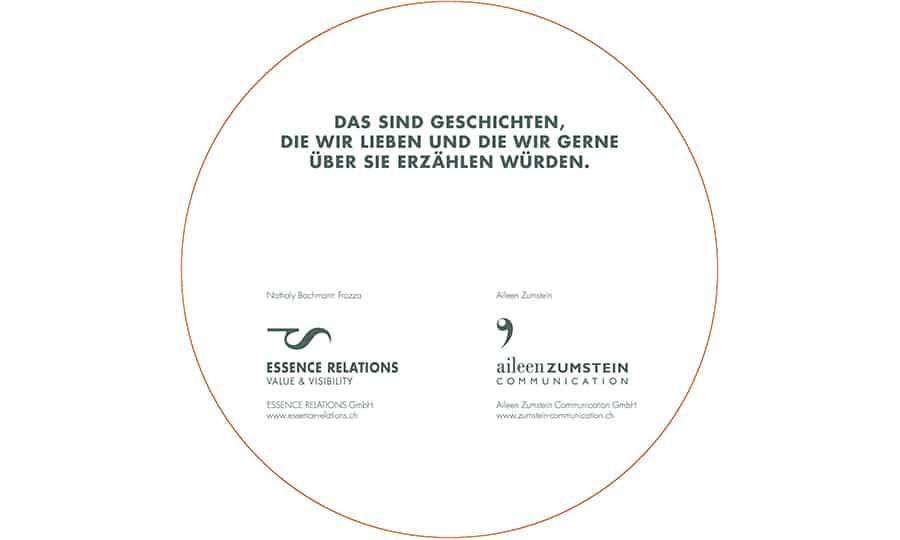 Drehscheibe 3 Aileen Zumstein und Essence Relations - Grafik Design - grafik ZUM GLÜCK.CH