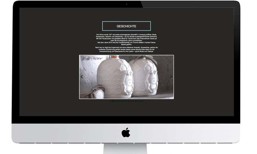 Webdesign Vitrine