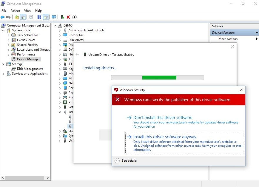 Terratec Grabby Driver update software for Windows X86 and X64
