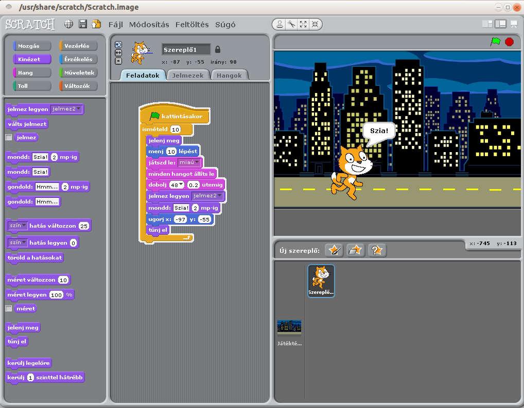 Scratch: Menő programozási környezet